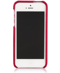 Polo Ralph Lauren Pebbled Leather Hard Phone Case Red