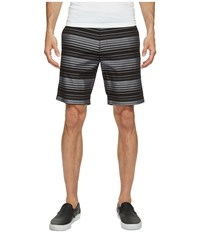 Calvin Klein 9 Herringbone Horizontal Stripe Shorts Black Men's Shorts
