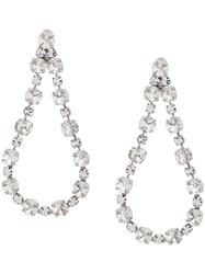 Ca And Lou Clip On Drop Earrings White