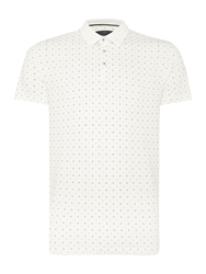 Peter Werth Danny Pattern Slim Fit Polo Shirt Off White