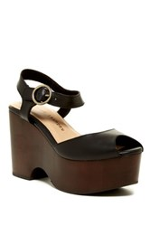 Chinese Laundry Cara Platform Wedge Sandal Black