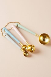 Anthropologie Bone And Brass Measuring Spoons Assorted