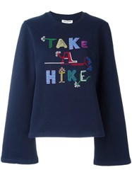 Opening Ceremony 'Take A Hike' Sweatshirt Blue