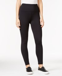 Styleandco. Style Co. Fleece Yoga Leggings Only At Macy's Deep Black