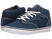 Globe Motley Mid Blue White Shaved Suede Men's Skate Shoes