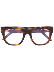 Pomellato Square Frame Glasses Acetate Metal Other Brown