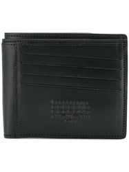 Maison Martin Margiela Reversible Bi Fold Wallet Calf Leather Black
