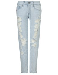Ag Jeans Light Blue Distressed Ripped