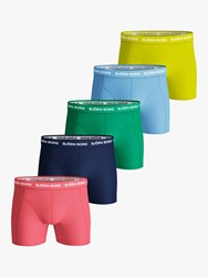 Bjorn Borg Solid Sammy Trunks Pack Of 5 Multi