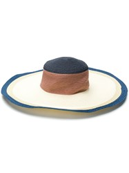 Paul Smith Ps By Wide Brim Sun Hat Nude And Neutrals