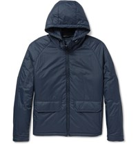 Bottega Veneta Slim Fit Padded Shell Hooded Jacket Navy
