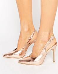 New Look Metallic Slingback Heel Gold