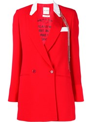 Each X Other Double Breasted Blazer Red