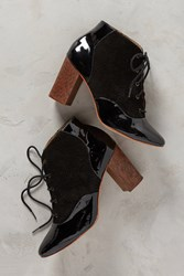 Anthropologie Nina Payne Paxton Lace Up Boots Black