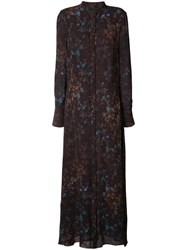 Josh Goot Floral Print Dress Brown