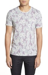 Men's Ted Baker London 'Rootz' Floral Print Pocket T Shirt Light Purple