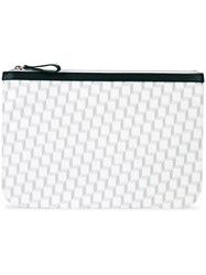 Pierre Hardy Geometric Print Clutch White