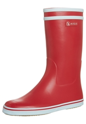Aigle Malouine Wellies Rouge Blanc Red