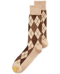 Gold Toe Men's Socks Village Argyle Single Pack Khaki