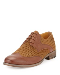 Joe's Jeans Joe's Fence Perforated Leather Suede Oxford Tan