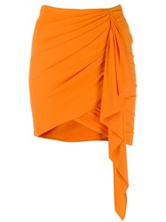 Alexandre Vauthier Draped Mini Skirt Orange