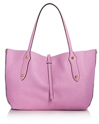 Annabel Ingall Isabella Small Leather Tote 100 Exclusive Orchid Bouquet Pink Silver