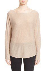 Women's Vince Scoop Neck Cashmere Pullover Heather Marzipan