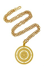 Paula Mendoza Costa Gold Plated Brass Necklace