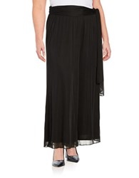 Alex Evenings Plus Chiffon Wide Leg Pants Black