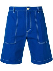 Acne Studios Canvas Shorts Blue