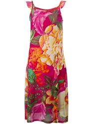 Kenzo Vintage Floral Sheer Dress Multicolour