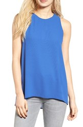 Lush Women's Side Slit Tank Strong Blue