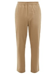 Acne Studios Paco Drawstring Cotton Blend Trousers Beige