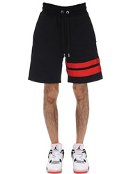 Gcds Logo Cotton Shorts Black