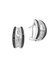 Effy Final Call Black Diamond And Sterling Silver Earrings