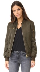 Pam And Gela Zipper Bomber Jacket Ivy