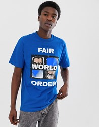 Fairplay Fwo T Shirt With Chest Print In Blue