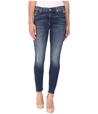 7 For All Mankind The Ankle Skinny W Distress In Manchester Square Manchester Square Women's Jeans Blue