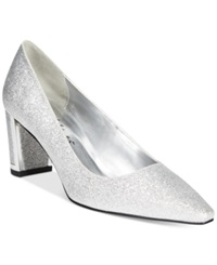 Easy Street Shoes Easy Street Stellar Pumps Women's Shoes Silver Glitter
