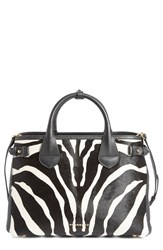 Burberry 'Medium Banner' Zebra Print Genuine Calf Hair Tote