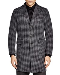 The Men's Store At Bloomingdale's Double Face Check Overcoat Grey