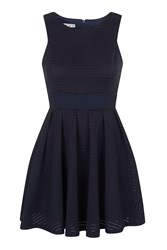 Princess Cut Lace Dress By Wal G Navy Blue