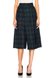 R 13 R13 Layered Kilt In Green Blue Checkered And Plaid Green Blue Checkered And Plaid