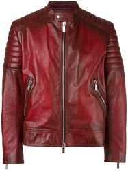 Christian Dior Homme Zipped Jacket Red