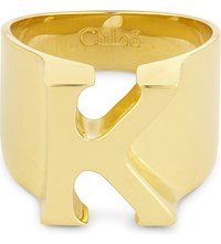 Chloe Alphabet K Ring Gold