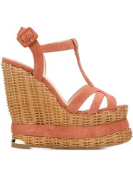 Paloma Barcelo 'Valerie' Sandals Pink And Purple
