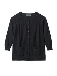 White Stuff Bloom Button Cardi Black