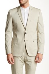 Ben Sherman Notch Lapel Two Button Sport Coat Beige
