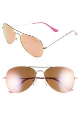 Lilly Pulitzer Lexy 59Mm Polarized Aviator Sunglasses Gold Shady Lady Gold Shady Lady
