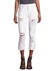 True Religion Liv Distressed Relaxed Skinny Jeans Diz Bright White